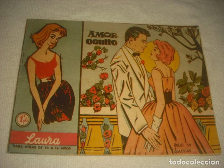 LAURA Nº 2 , AMOR OCULTO . ED. FERMA 1959. (Tebeos y Comics - Ferma - Otros)