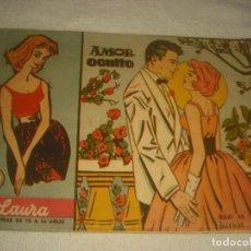 Tebeos: LAURA Nº 2 , AMOR OCULTO . ED. FERMA 1959.. Lote 132075154