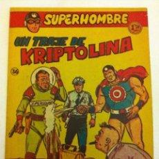 Tebeos: SUPERHOMBRE - UN TRAJE DE KRIPTOLINA- Nº. 36. Lote 132093118