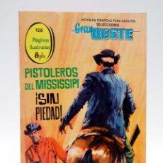 Tebeos: SELECCIONES GRAN OESTE 13. PISTOLEROS DEL MISSISSIPI / SIN PIEDAD FERMA, 1963. OFRT. Lote 154878662