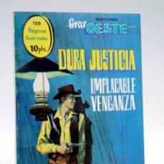 Tebeos: SELECCIONES GRAN OESTE 19. DURA JUSTICIA / IMPLACABLE VENGANZA FERMA, 1963. OFRT. Lote 133686226