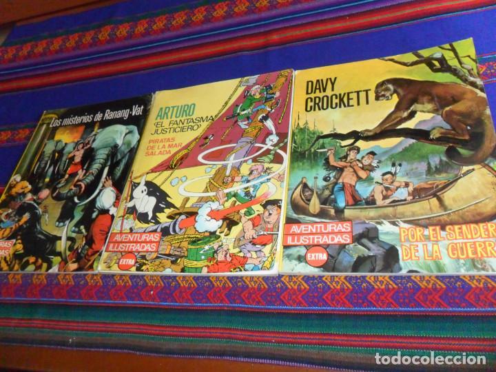 RÚSTICA AVENTURAS ILUSTRADAS EXTRA: ARTURO EL FANTASMA JUSTICIERO DAVY CROCKETT MISTERIOS RANANG-VAT (Tebeos y Comics - Ferma - Otros)