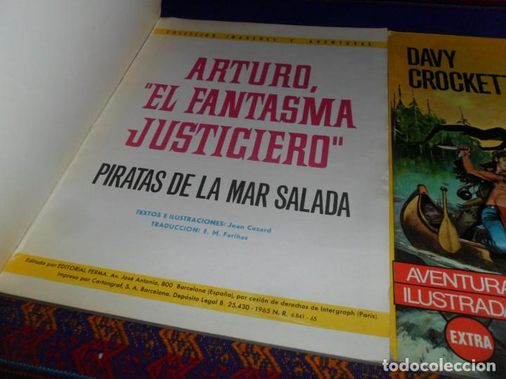 Tebeos: RÚSTICA AVENTURAS ILUSTRADAS EXTRA: ARTURO EL FANTASMA JUSTICIERO DAVY CROCKETT MISTERIOS RANANG-VAT - Foto 2 - 132919434