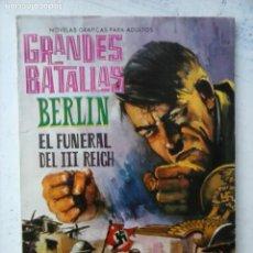 Tebeos: GRANDES BATALLAS Nº 44 - BERLIN, EL FUNERAL DEL III REICH - HITLER - MUY NUEVO. Lote 133056354