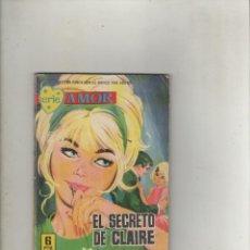 Tebeos: SERIE AMOR-FERMA-AÑO 1962-B/N-FORMATO GRAPA-Nº 254-EL SECRETO DE CLAIRE. Lote 133650278