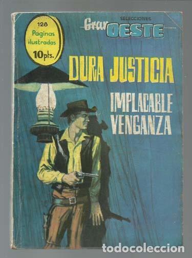 SELECCIONES GRAN OESTE 19: DURA JUSTICIA / IMPLACABLE VENGANZA, 1963, FERMA (Tebeos y Comics - Ferma - Gran Oeste)