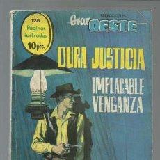 Tebeos: SELECCIONES GRAN OESTE 19: DURA JUSTICIA / IMPLACABLE VENGANZA, 1963, FERMA. Lote 133791210