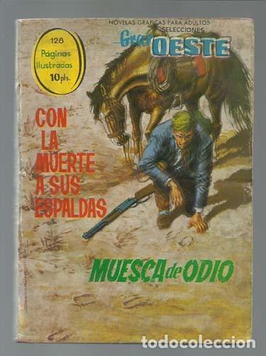 SELECCIONES GRAN OESTE 21: CON LA MUERTE A SUS ESPALDAS / MUESCA DE ODIO, 1963, FERMA (Tebeos y Comics - Ferma - Gran Oeste)