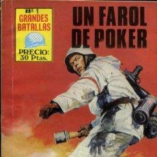 Tebeos: GRANDES BATALLAS- Nº 1 - UN FAROL DE PÓKER- 1981- TREPIDANTE E INGENIOSO-ESCASO-DIFÍCIL-LEAN-9404. Lote 133847510