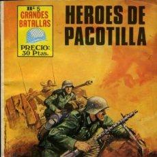Tebeos: GRANDES BATALLAS - Nº 5 - HÉROES DE PACOTILLA -GRAN JAIME FORNS-BUENO-RARO-DIFÍCIL-LEAN-9406. Lote 133849946