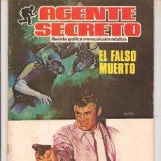 Tebeos: AGENTE SECRETO- Nº 4 -EL FALSO MUERTO-1982 -GRAN JULIO MONTAÑÉS-APASIONANTE-BUENO-DIFÍCIL-LEAN-9428. Lote 134434223