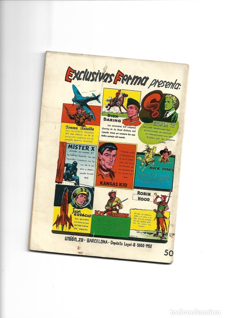 Tebeos: Aventuras Ilustradas Ferma, Año 1.958. Colección Completa son 88. Tebeos Originales Nuevos - Foto 39 - 134816354