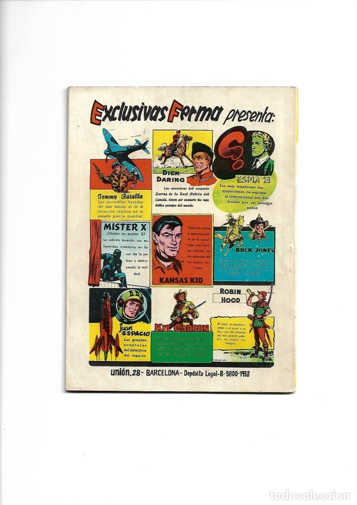 Tebeos: Aventuras Ilustradas Ferma, Año 1.958. Colección Completa son 88. Tebeos Originales Nuevos - Foto 19 - 134816354