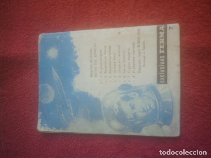 Tebeos: RUTAS DEL ESPACIO FERMA Nº 7 ,EL GRAN MISTERIO . 64 PAGINAS 1962. - Foto 2 - 135805378