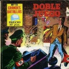 Tebeos: GRANDES BATALLAS - Nº 19 - DOBLE JUEGO-GRAN AURELI BEVIÁ-1981-BUENO-RARO-DIFÍCIL-LEAN-9503. Lote 136214882