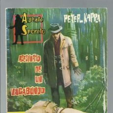 Tebeos: AGENTE SECRETO 17: ASESINATO DE UN VAGABUNDO, 1962, FERMA, MUY BUEN ESTADO. Lote 137117350