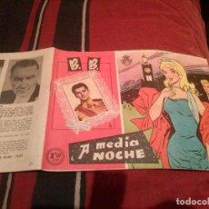 Tebeos: COLECCIÓN CAROLINA B. B. BRIGITTE BARDOT - A MEDIA NOCHE Nº42 - 1959. Lote 139084062