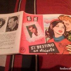 Tebeos: COLECCIÓN CAROLINA B. B. BRIGITTE BARDOT - EL DESTINO SE DIVIERTE Nº36 - 1959. Lote 139084622