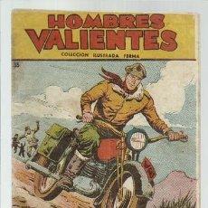 Tebeos: HOMBRES VALIENTES 35, 1958, FERMA, BUEN ESTADO. Lote 139744570