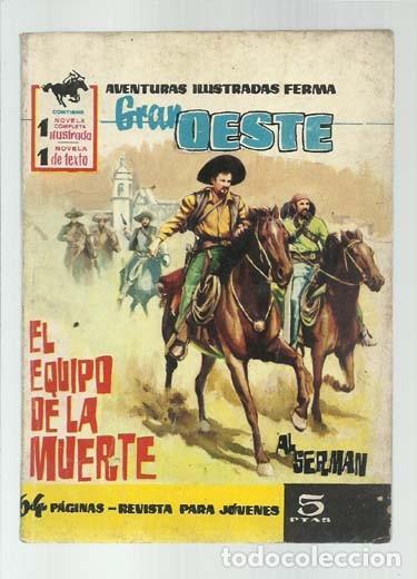 GRAN OESTE 78: EL EQUIPO DE LA MUERTE, 1962, FERMA, BUEN ESTADO (Tebeos y Comics - Ferma - Gran Oeste)