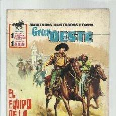 Tebeos: GRAN OESTE 78: EL EQUIPO DE LA MUERTE, 1962, FERMA, BUEN ESTADO. Lote 139744902