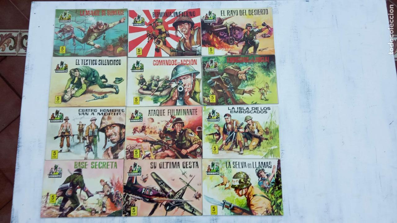COMBATE ORIGINAL COMPLETA 1 AL 12 - EDITORIAL FERMA 1963 MUY BUEN ESTADO, DIFÍCIL (Tebeos y Comics - Ferma - Combate)