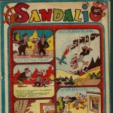 Tebeos: SANDALIO Nº 19 - FERMA 1958 - ORIGINAL - EL DE LA FOTO - UNICO EN TODOCOLECCION. Lote 143038766