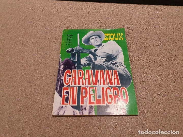 COMICS....NOVELA GRAFICA DEL OESTE.....CARAVANA EN PELIGRO......EDICIONES TORAY...1966..... (Tebeos y Comics - Ferma - Aventuras Ilustradas)