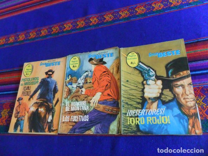 SELECCIONES GRAN OESTE 4 DESERTORES 5 EL HOMBRE DE MONTANA 13 SIN PIEDAD. FERMA 1963. 8 PTS. (Tebeos y Comics - Ferma - Gran Oeste)