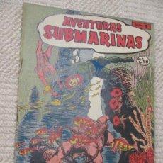 Tebeos: AVENTURAS SUBMARINAS, DE FERMA, 1956, COMPLETA Nº 1, 2, 3 Y 4, PERFECTO ESTADO. Lote 155108598