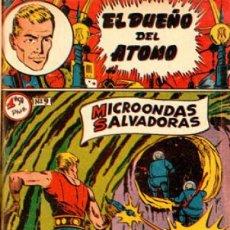Tebeos: EL DUEÑO DEL ÁTOMO MICROONDAS SALVADORAS N°9 (1957). Lote 155537930