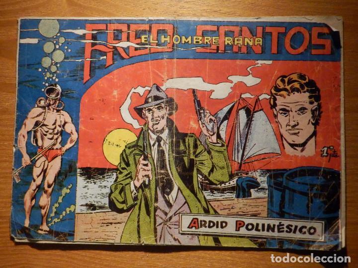 COMIC - FRED SANTOS - EL HOMBRE RANA - ARDID POLINÉSICO - FALTA PAGINA 4 Y 5 - PARA RESTAURAR OTRO (Tebeos y Comics - Ferma - Otros)