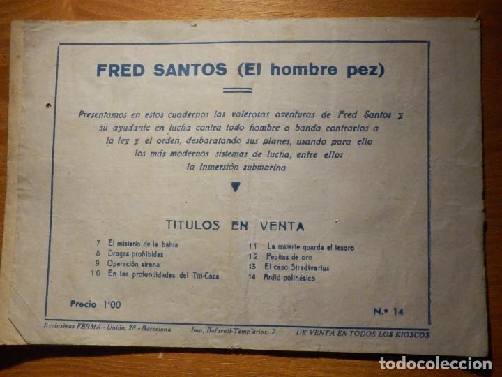 Tebeos: Comic - Fred Santos - El Hombre Rana - Ardid Polinésico - Falta pagina 4 y 5 - Para restaurar otro - Foto 3 - 156677874