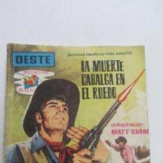 Tebeos: SENDAS SALVAJES Nº LA MUERTE CABALGA EN EL RUEDO COLECCIÓN OESTE, MATT SHANO FERMA VSD09. Lote 156733114