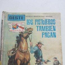 Tebeos: SENDAS SALVAJES Nº LOS PISTOLEROS TAMBIEN PAGAN COLECCIÓN OESTE, MATT SHANO FERMA VSD09. Lote 156733650