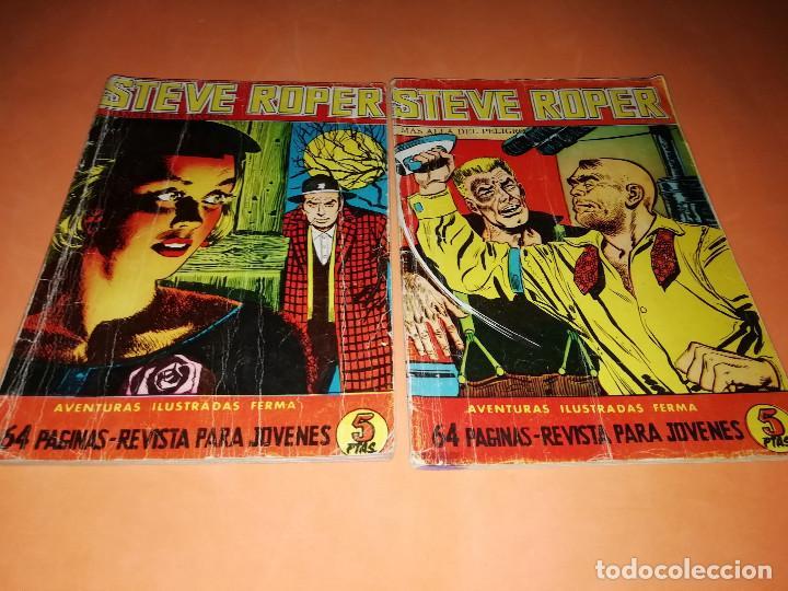 STEVE ROPER. AVENTURAS ILUSTRADAS FERMA. Nº 6 Y 7. 1960. BUEN ESTADO (Tebeos y Comics - Ferma - Aventuras Ilustradas)