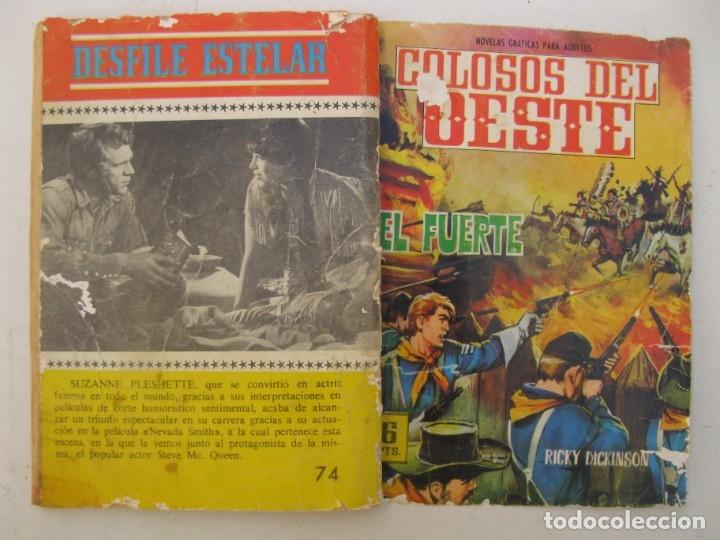Tebeos: COLOSOS DEL OESTE - Nº 74 - EL FUERTE - EDITORIAL FERMA - AÑO 1964. - Foto 3 - 158108074