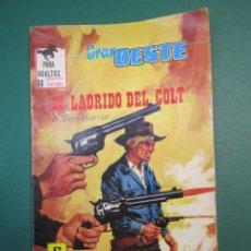 Tebeos: GRAN OESTE / MONTANA OESTE (1958, FERMA) 395 · 9-XII-1965 · EL LADRIDO DEL COLT. Lote 160547118