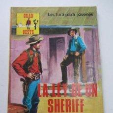 Tebeos: GRAN OESTE Nº 340 LA LEY DE UN SHERIFF . PRODUCCIONES EDITORIALES CS140B. Lote 160976234