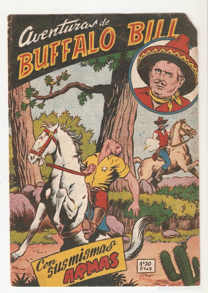 AVENTURAS DE BUFFALO BILL Nº 13 TEBEO ORIGINAL 1955 CON SUS MISMAS ARMAS EDIT. FERMA RARO MIRA !! (Tebeos y Comics - Ferma - Aventuras Ilustradas)
