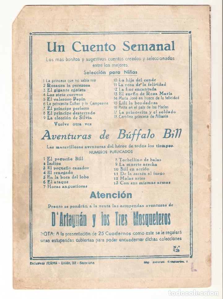 Tebeos: AVENTURAS DE BUFFALO BILL nº 13 TEBEO ORIGINAL 1955 CON SUS MISMAS ARMAS EDIT. FERMA RARO MIRA !! - Foto 2 - 163404218