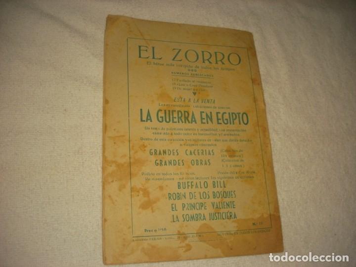 Tebeos: EL ZORRO Nº 19 . DE MUJER A MUJER. 1956. - Foto 2 - 165730190