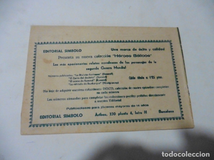 Tebeos: HEROES BELICOS Nº 4 SIMBOLO ORIGINAL - Foto 2 - 167736004
