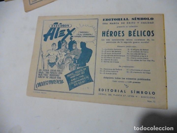 Tebeos: HEROES BELICOS Nº 13 SIMBOLO ORIGINAL - Foto 2 - 167736900