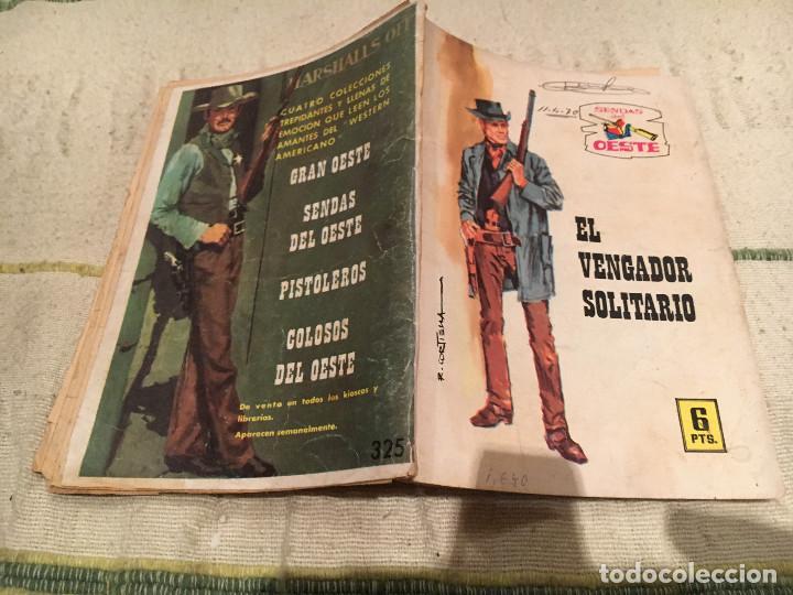 SENDAS DEL OESTE Nº325 - EL VENGADOR SOLITARIO (Tebeos y Comics - Ferma - Otros)