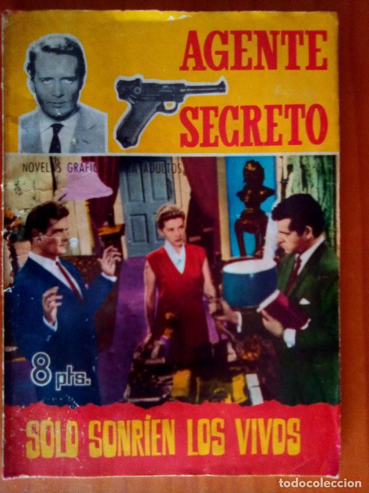 AGENTE SECRETO- Nº 21 - SÓLO SONRÍEN LOS VIVOS- 1967-GRAN LUIS COLLADO- BUENO-DIFICIL-LEAN-1480 (Tebeos y Comics - Ferma - Agente Secreto)