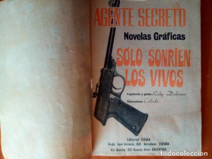 Tebeos: AGENTE SECRETO- Nº 21 - SÓLO SONRÍEN LOS VIVOS- 1967-GRAN LUIS COLLADO- BUENO-DIFICIL-LEAN-1480 - Foto 4 - 278824398