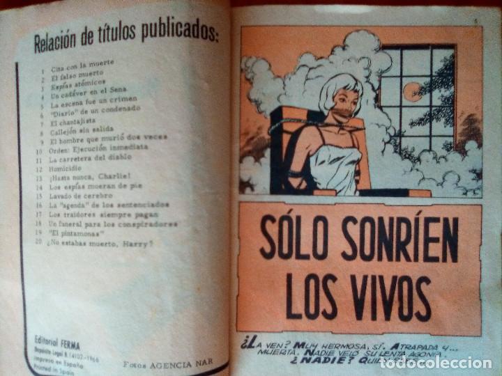 Tebeos: AGENTE SECRETO- Nº 21 - SÓLO SONRÍEN LOS VIVOS- 1967-GRAN LUIS COLLADO- BUENO-DIFICIL-LEAN-1480 - Foto 5 - 278824398