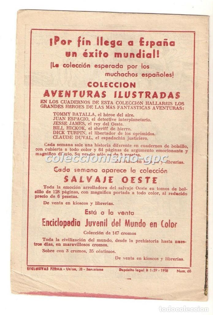 Tebeos: SUPERHOMBRE SUPER HOMBRE nº 68 y ÚLTIMO TEBEO ORIGINAL 1958 LA ULTIMA AVENTURA FERMA RARO DIFICIL !! - Foto 2 - 170444028