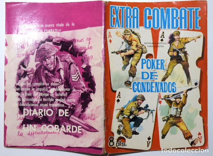 EXTRA COMBATE, NOVELAS GRÁFICAS DE GUERRA - POKER DE CONDENADOS - AÑO 1965 (Tebeos y Comics - Ferma - Otros)